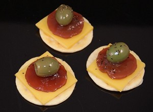Fake Food Pepperoni & Cheese Hors D'oeuvre (pack of 3)