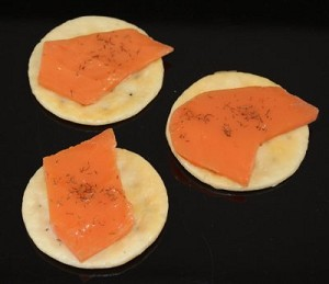 Fake Food Salmon Hors D'oeuvre (pack of 3)