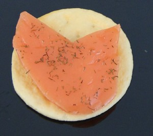 Fake Food Salmon Hors D'oeuvre - One Piece