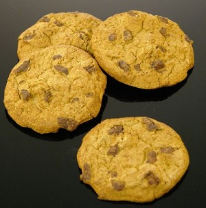 Fake Food Chocolate Chip Cookies (pack of 4)