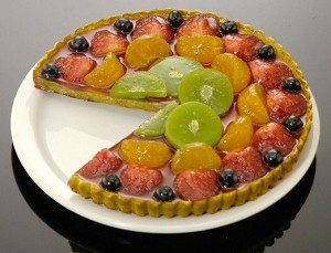 Fake Food Fruit Torte Of Slice Out