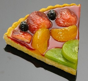 Fake Food Fruit Torte Slice