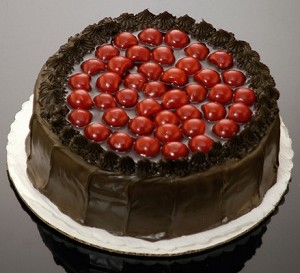 Fake Food Chocolate Cherry Cake