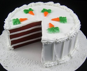 Fake Food Carrot Cake With Slice Out