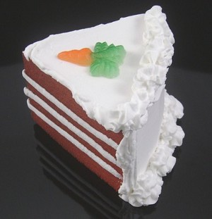 Fake Food Carrot Cake / Slice