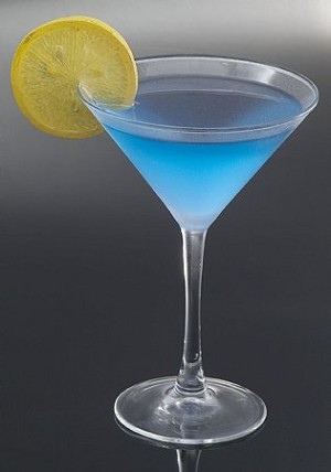 Fake Food Blue Dolphin Martini Frosted