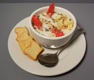 Fake Food White Seafood Chowder