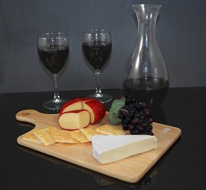Fake Food Red Wine & Cheese Board Assortment
