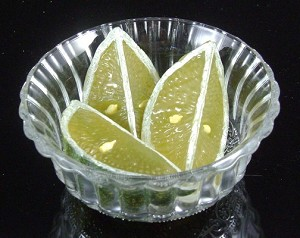 Fake Food Lime Wedges In Dish