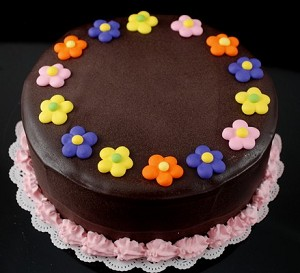 Fake Food Chocolate Flower Dollop Cake