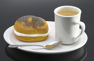 Fake Food Coffee And Bagel