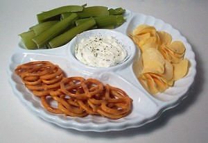 Fake Food Snack Food And Dip Tray
