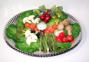Fake Food Veggie Platter With Dip