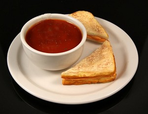 Fake Food Tomato Soup & Grilled Cheese Plate