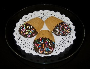 Fake Food Italian Chocolate Butter Cookies On Plate