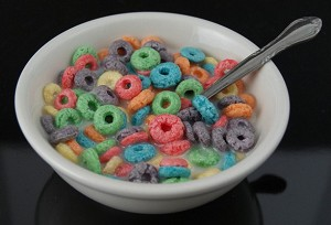 Fake Food Bowl Of Cereal - Fruity O's