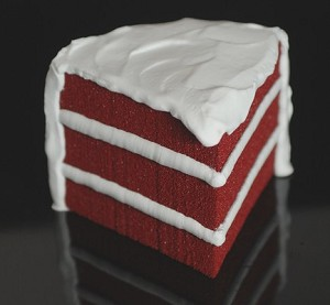 Fake Food Red Velvet Cake / Slice