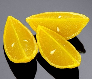 Fake Food Lemon Wedge (pack of 3)