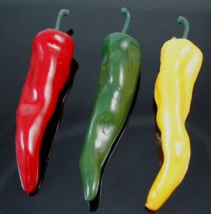 Fake Food Chili Peppers Assorted (pack of 3)