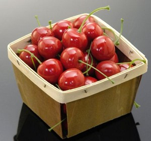 Fake Food Cherries In Basket