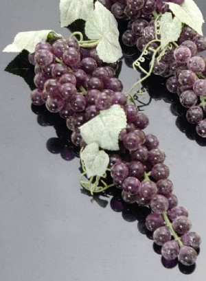 Fake Food Grapes Purple Long - One Bunch