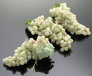 Fake Food Grapes Champagne Green Mini (pack of 3 Bunches)