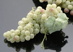 Fake Food Grapes Champagne Green Mini - One Bunch