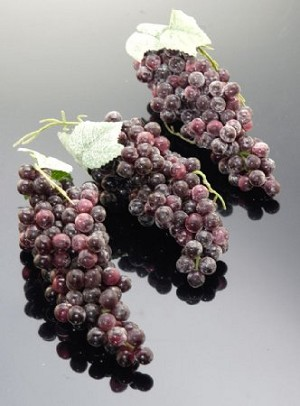 Fake Food Grapes Champagne Purple Mini (pack of 3 Bunches)