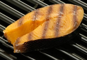 Fake Food Salmon Steak - Grilled