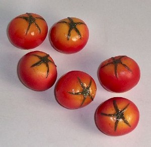 Fake Food Tomato/cherry (pack of 6)