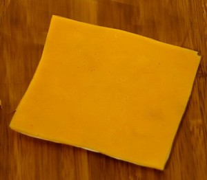 Fake Food American Cheese Slice - One Piece