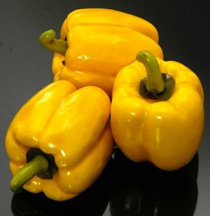 Fake Food Yellow Bell Peppers (bag of 3 assorted)