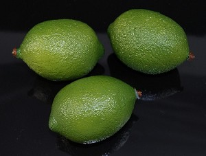 Fake Food Jumbo Limes (pack of 3)