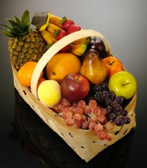 Fake Food Fruit Basket
