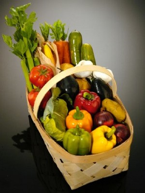 Fake Food Vegetable Basket