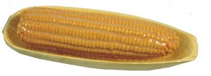 Fake Food Corn On The Cob In Dish