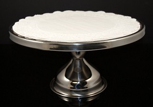 Fake Food Metal Pedestal Cake Platter