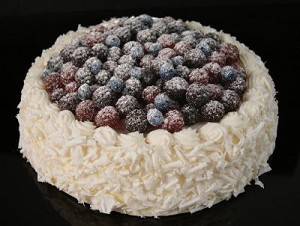 Fake Food Coconut Cake With Berries On Top