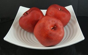 Fake Food Jumbo Red Apples In Decorative Melamine Bowl