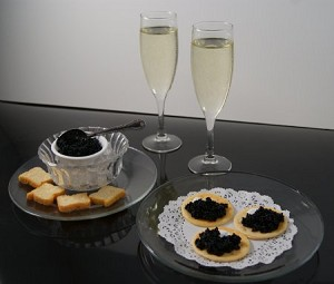 Fake Food Champagne & Caviar Set