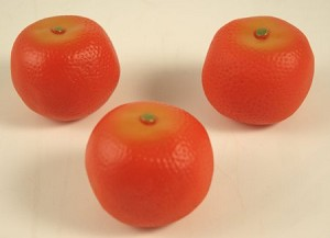 Fake Food Clementine (pack of  3)