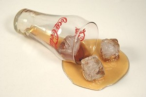 Fake Food Spilled Bell Cola Glass