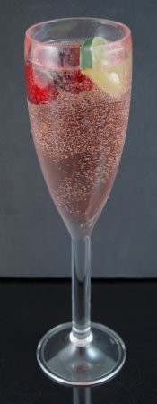 Fake Food Rose Champagne In Acrylic Glass