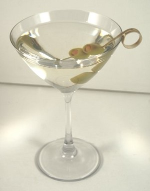 Fake Food Martini with Olives on Fancy Pick