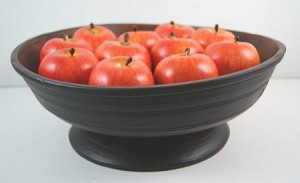 Fake Food Red Gala Apples on Primitive Footed Bowl