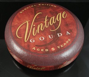 Fake Food Large Vintage Gouda Cheese Wheel