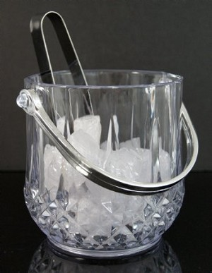 Fake Food Bucket Of Ice With Tongs