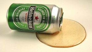 Fake Food Spilled Import Beer Can