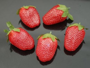 Fake Food Deluxe Jumbo Strawberries (pack of 5)