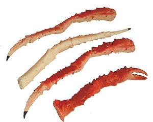 Fake Food King Crab Legs (set of 4)